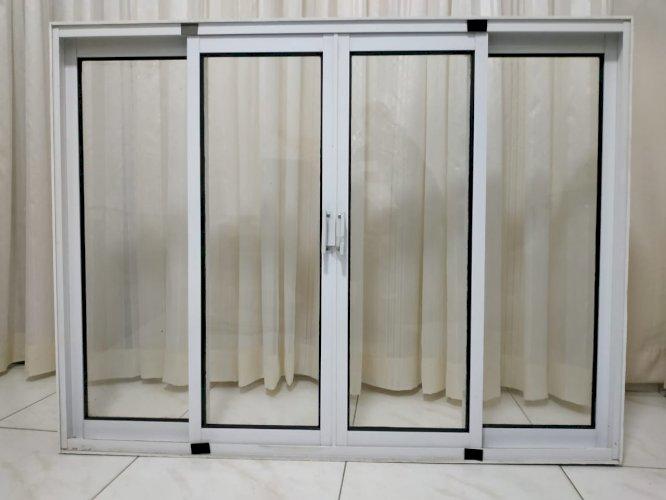 Janela Alumínio Branco 8mm -1,30x 1m